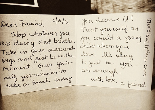 inner critic love letter